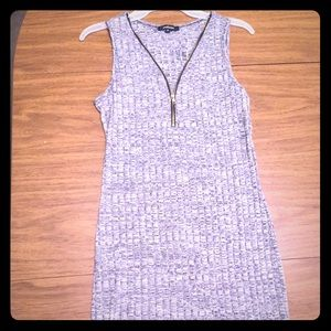 Ambiance- Gray Stretchy thin cotton sweater tank
